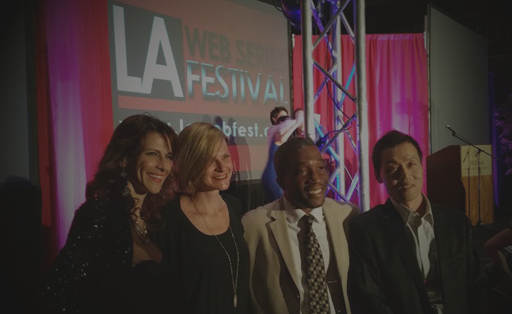 Janet, Meredith, Mike, Young at LAWEBFEST Awards.4.5.15