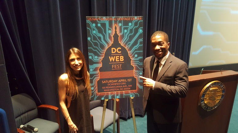 GREAT SHOT.MIKE AND OTESSA at D.C. Webfest(1)