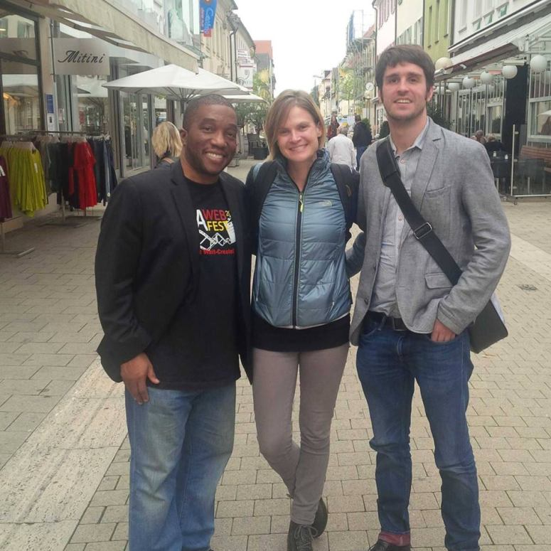 Mike with Meredith and Mikael Theiry in Germany