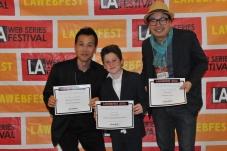 Young,KwonBae & Kid Holding Awards.Nice